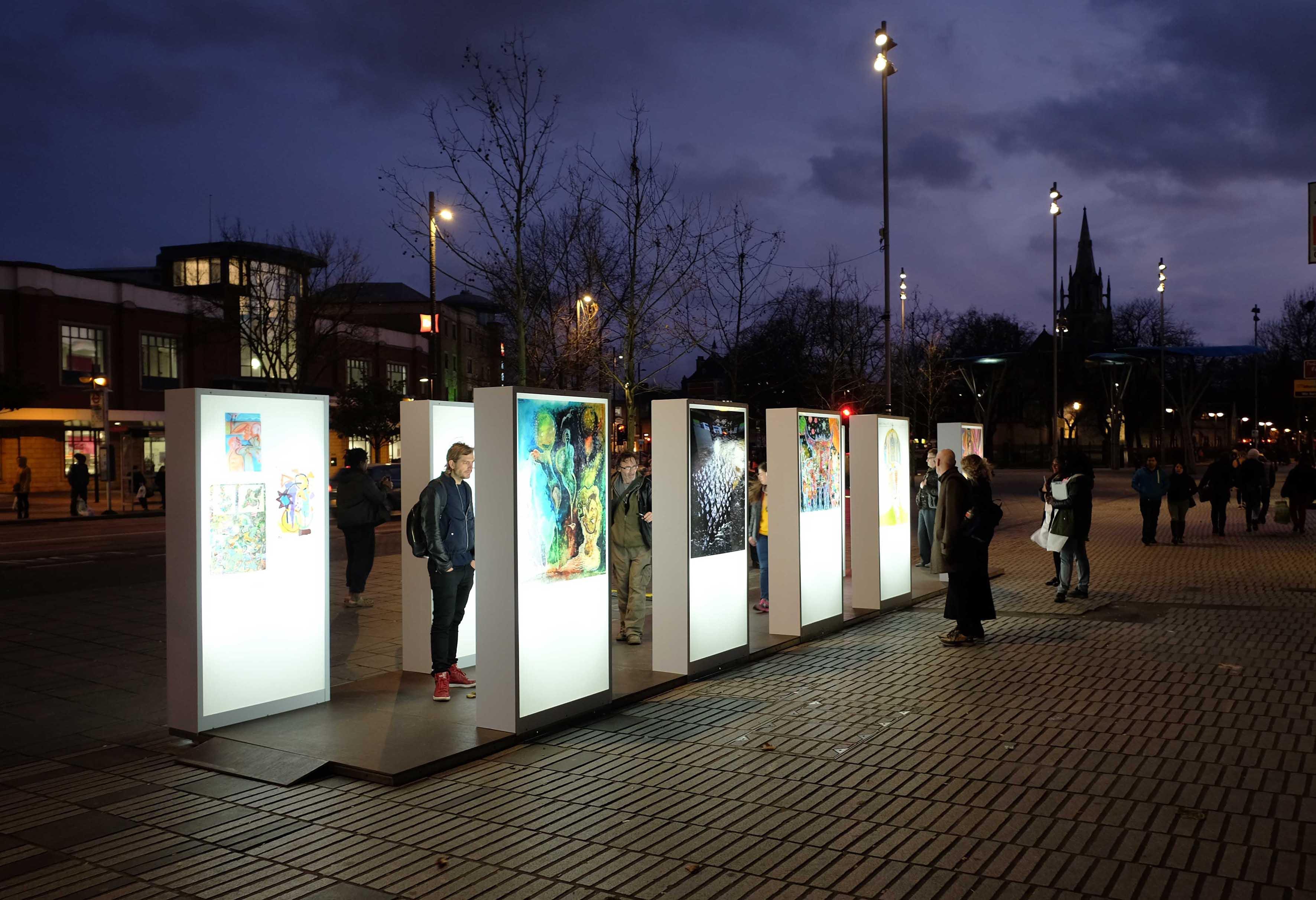 lightbox installation