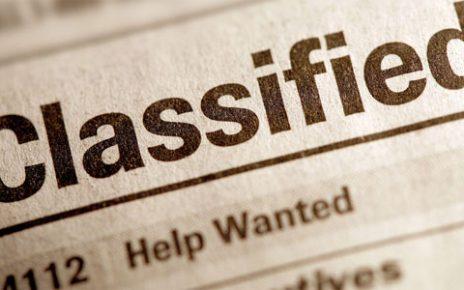 vacancy ad in a website